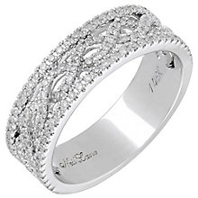 Neil Lane 14ct White Gold 0.45ct Diamond Twist Ring - Product number 3832813