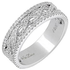 Neil Lane 14ct White Gold 0.45ct Diamond Twist Ring - Product number 3832813