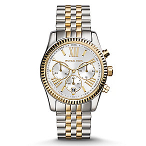 Michael Kors Ladies' Two Colour Chronograph Bracelet Watch - Product number 3833887