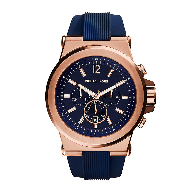 men s michael kors watches ernest jones michael kors men s gold tone round strap watch product number 3833895