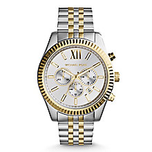 Michael Kors Men's Silver Chronograph Bracelet Watch - Product number 3833909