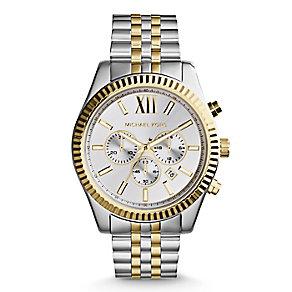 Michael Kors Men's Silver Chronograph Bracelet Watch - Product number 3833909
