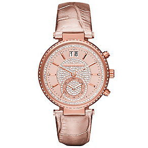 Michael Kors Ladies' Rose Gold Tone Strap Watch - Product number 3833925