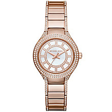Michael Kors Ladies' Rose Gold Tone Bracelet Watch - Product number 3833984