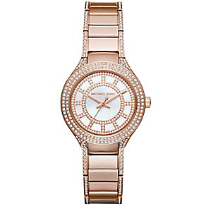 Michael Kors Ladies' Rose Gold Plated Bracelet Watch - Product number 3833984