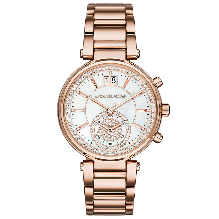 Michael Kors Ladies' Rose Gold Tone Bracelet Watch - Product number 3833992