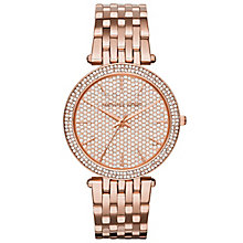 Michael Kors Darci Ladies' Rose Gold Tone Bracelet Watch - Product number 3834018