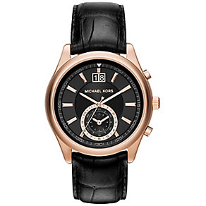 Michael Kors Aiden men's rose gold-plated strap watch - Product number 3834077