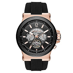 Michael Kors Men's Rose Gold Tone Strap Watch - Product number 3834107