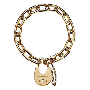 Michael Kors gold-plated padlock link bracelet - Product number 3839648