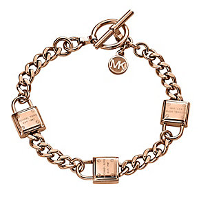 Michael Kors Rose Gold-plated Padlock Bracelet - Product number 3839672