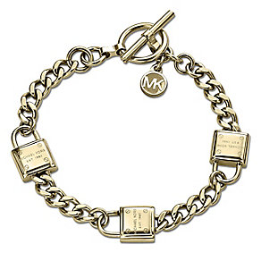 Michael Kors Gold-plated Padlock Bracelet - Product number 3839680