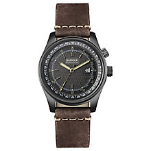 Barbour Boldon Men's Black Ion Plated Leather Strap Watch - Product number 3840263
