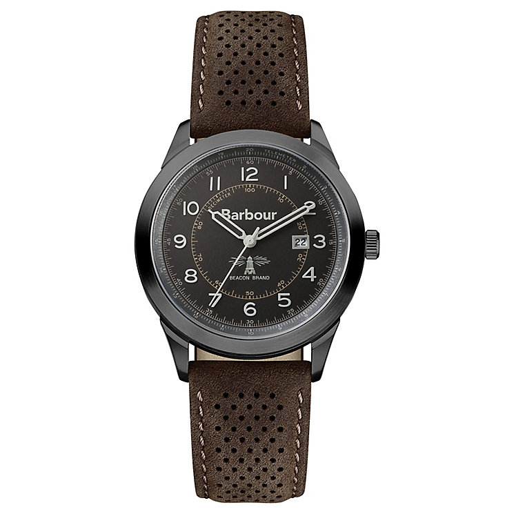 Barbour Walker Men's Black Ion Plated Strap Watch - Product number 3840298