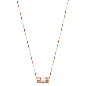 Michael Kors Rose Gold-plated Barrel Necklace - Product number 3840409