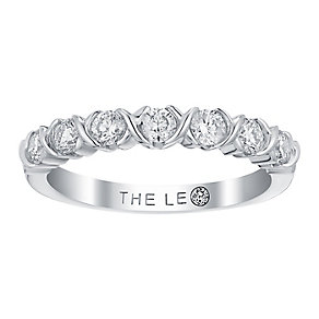 Leo Diamond 18ct white gold 1/2ct I I1 diamond ring - Product number 3840417