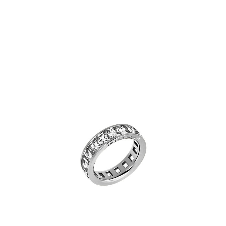 Michael Kors Stainless Steel Stone Set Ring Size O - Product number 3840948
