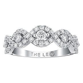 Leo Diamond 18ct white gold 0.88ct I I1 diamond ring - Product number 3840964