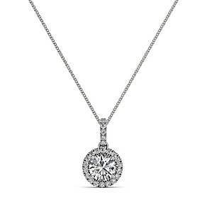 The Diamond Story 18ct 0.33ct HI I1 Round Halo Pendant - Product number 3841235