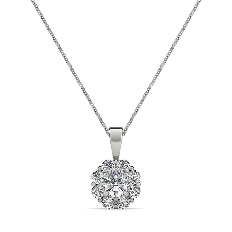 The Diamond Story 18ct White Gold  1.00ct Flower Pendant - Product number 3841251
