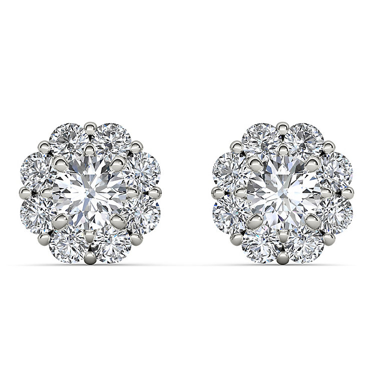 The Diamond Story 18ct White Gold Flower Burst Earrings - Product number 3841278