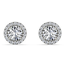 The Diamond Story 18ct White Gold 0.60ct Halo Earrings - Product number 3841286