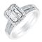 18ct white gold 40pt baguette cut diamond cluster bridal set - Product number 3841529