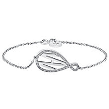 Amanda Wakeley Monogram sterling silver diamond bracelet - Product number 3842770
