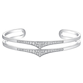 Amanda Wakeley Rebel sterling silver double band cuff - Product number 3843432