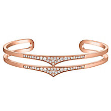 Amanda Wakeley Rebel rose gold-plated silver double cuff - Product number 3843440