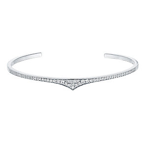Amanda Wakeley Rebel sterling silver cubic zirconia cuff - Product number 3843459