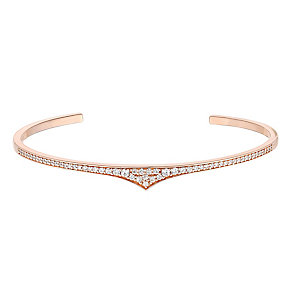 Amanda Wakeley Rebel rose gold-plated silver zirconia cuff - Product number 3844463