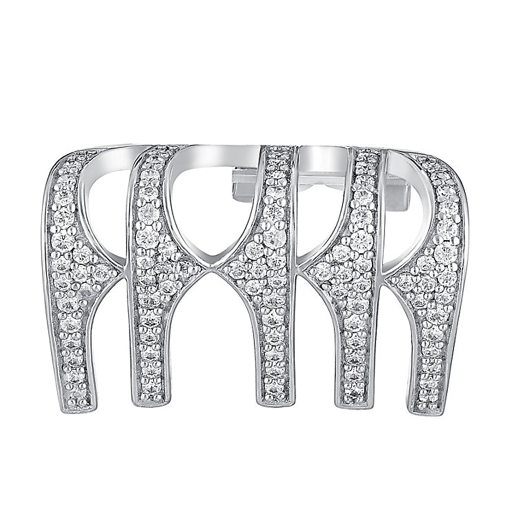 Amanda Wakeley Rebel sterling silver clip on earring cuff - Product number 3844498