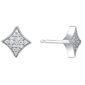 Amanda Wakeley Rebel sterling silver cubic zirconia studs - Product number 3844641