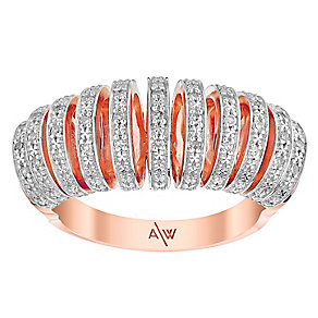 Amanda Wakeley Icon rose gold-plated silver diamond ring - Product number 3844978