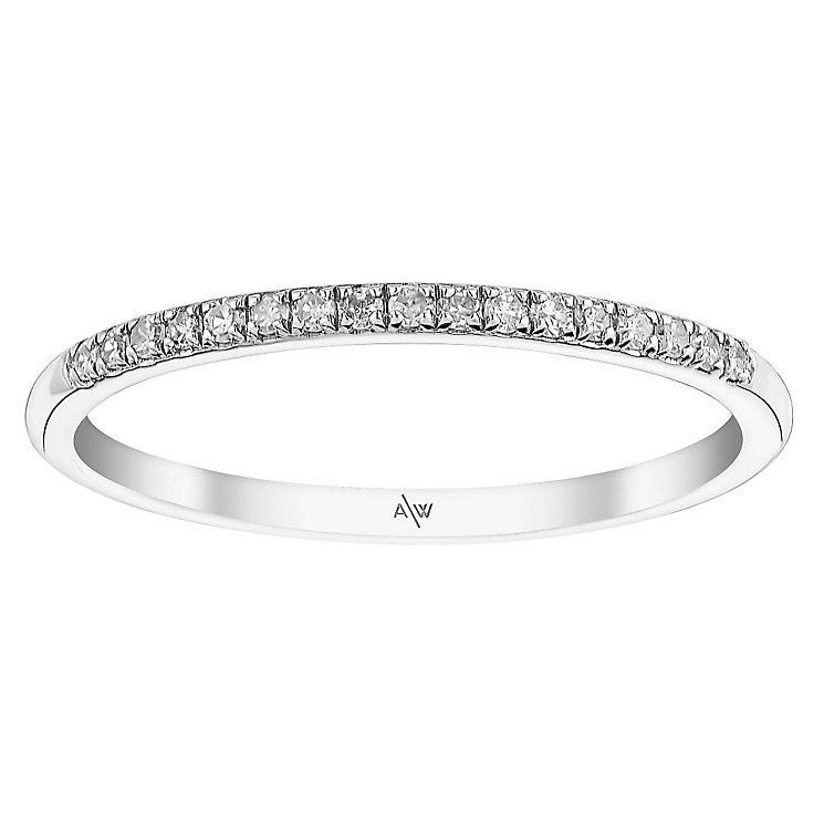 Amanda Wakeley Monogram sterling silver diamond ring - Product number 3845397