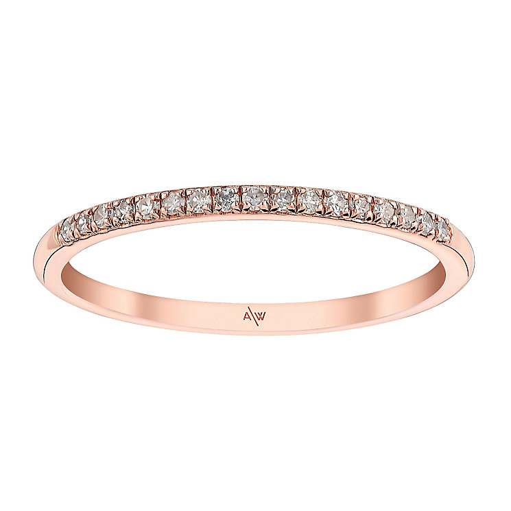 Amanda Wakeley Monogram rose gold-plated silver ring - Product number 3845540