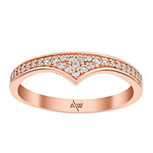 Amanda Wakeley Rebel rose gold-plated silver zirconia ring - Product number 3845958