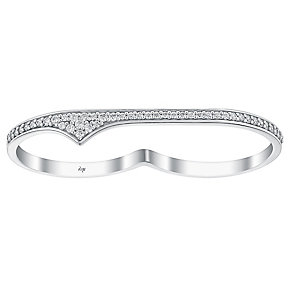 Amanda Wakeley Rebel sterling silver two finger ring - Product number 3846512
