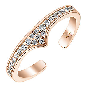 Amanda Wakeley Rebel rose gold-plated silver phalanx ring - Product number 3846806