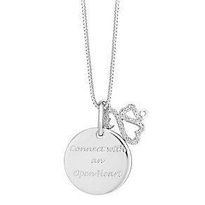 Open Hearts By Jane Seymour Silver & Diamond Family Pendant - Product number 3853829