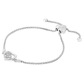 Open Hearts By Jane Seymour Silver & Diamond Heart Bracelet - Product number 3853861