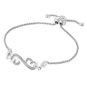 Open Hearts By Jane Seymour Diamond Open Heart Bracelet - Product number 3853888