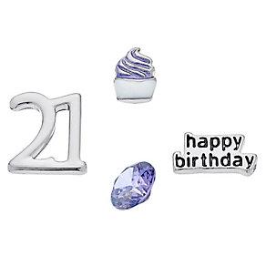 Lavish Lockets  4 Charm Set - 21st Birthday - Product number 3858545