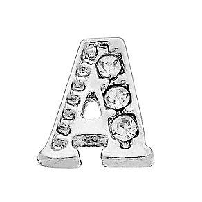 Lavish Lockets  Stone Set 'A' Charm - Product number 3859126