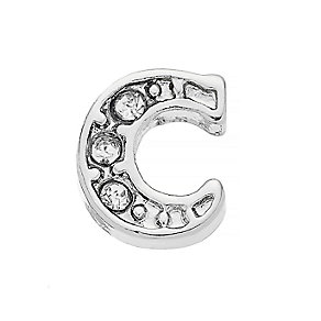 Lavish Lockets  Stone Set 'C' Charm - Product number 3859169