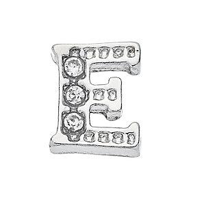 Lavish Lockets  Stone Set 'E' Charm - Product number 3859215