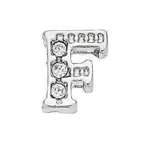 Lavish Lockets  Stone Set 'F' Charm - Product number 3859231