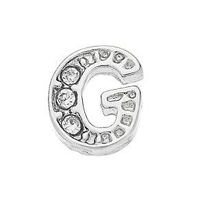 Lavish Lockets  Stone Set 'G' Charm - Product number 3859258
