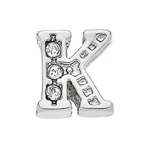 Lavish Lockets  Stone Set 'K' Charm - Product number 3859347